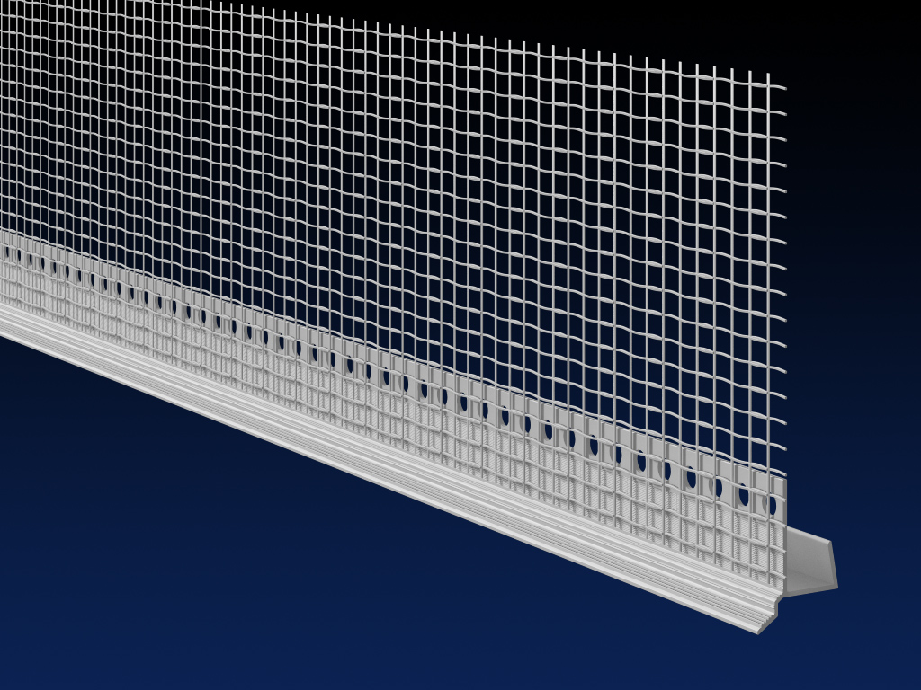 PVC EWI 12.5mm board casing 6mm drip bead 100mm mesh