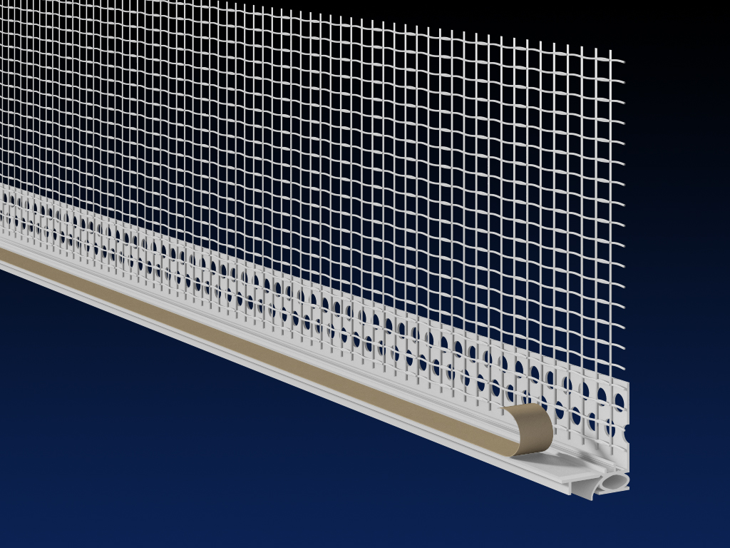 PVC EWI 6mm super thermal reveal bead 100mm mesh